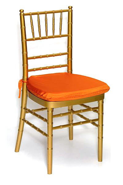 Pumpkin Lamour Chair Pad Cover