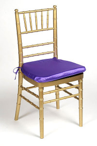 Purple Lamour Chair Pad Cover