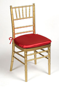 Red Lamour Chair Pad Cover