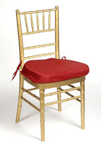 Red Silky Chair Pad Cover