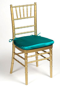 Teal Lamour Chair Pad Cover