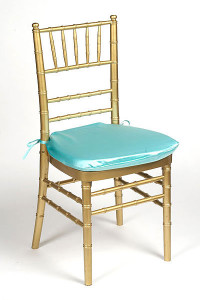 Tiffany Blue Lamour Chair Pad Cover