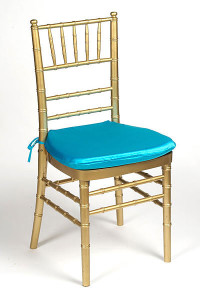 Turquoise Lamour Chair Pad Cover
