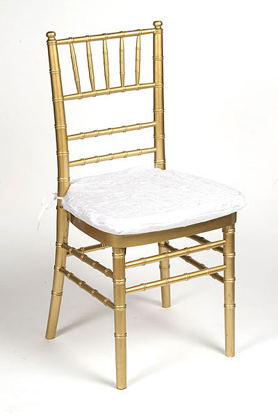 White Lamour Chair Pad Cover