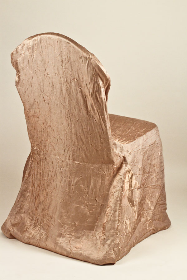 Champagne Crushed Shimmer Chair Covers