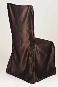 Chocolate Square Chair Cover