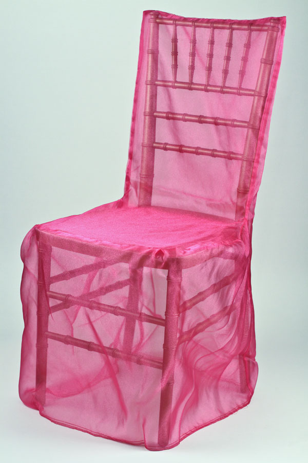 Fuchsia Orandy Chivari Chair Cover