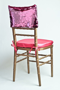 Fuchsia Piano Sequin Chair Cap