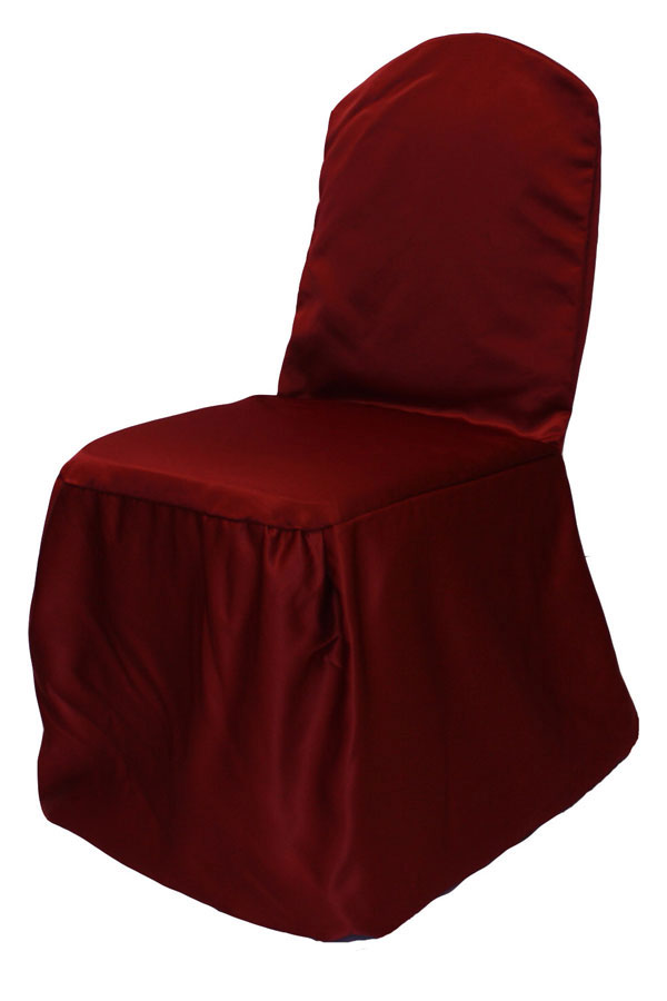 Cranberry Lamour Chair Cover