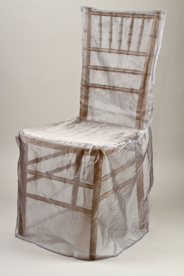 Light Grey Orandy Chivari Chair Cover