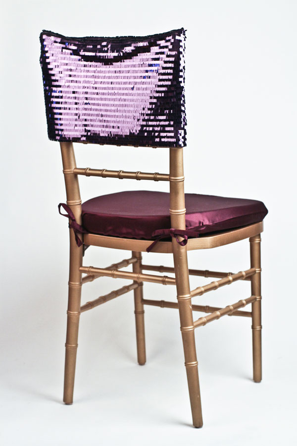 Purple Piano Sequin Chair Cap