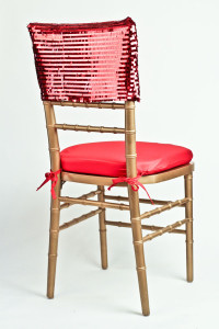Red Piano Sequin Chair Cap