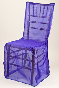 Royal Organdy Chivari Chair Cover