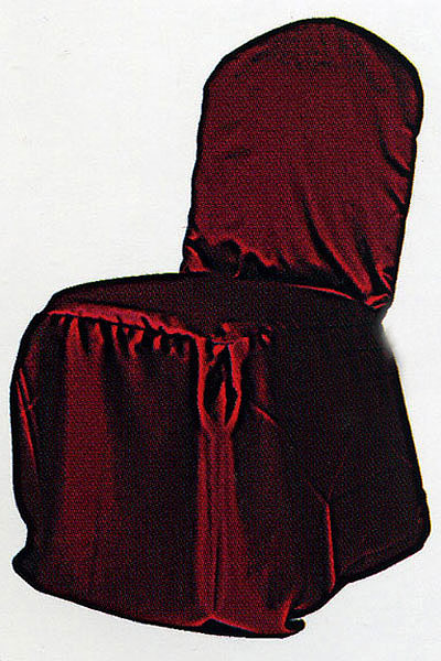 Burgundy Iridescent Taffeta Chair Cover