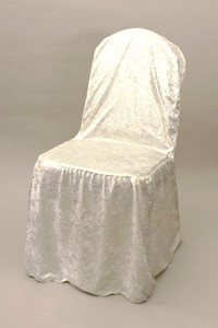 Ecru Velvet Chair Cover