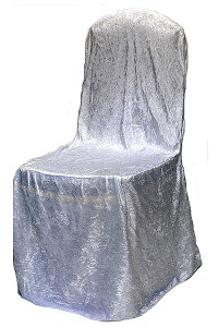 White Velvet Chair Cover