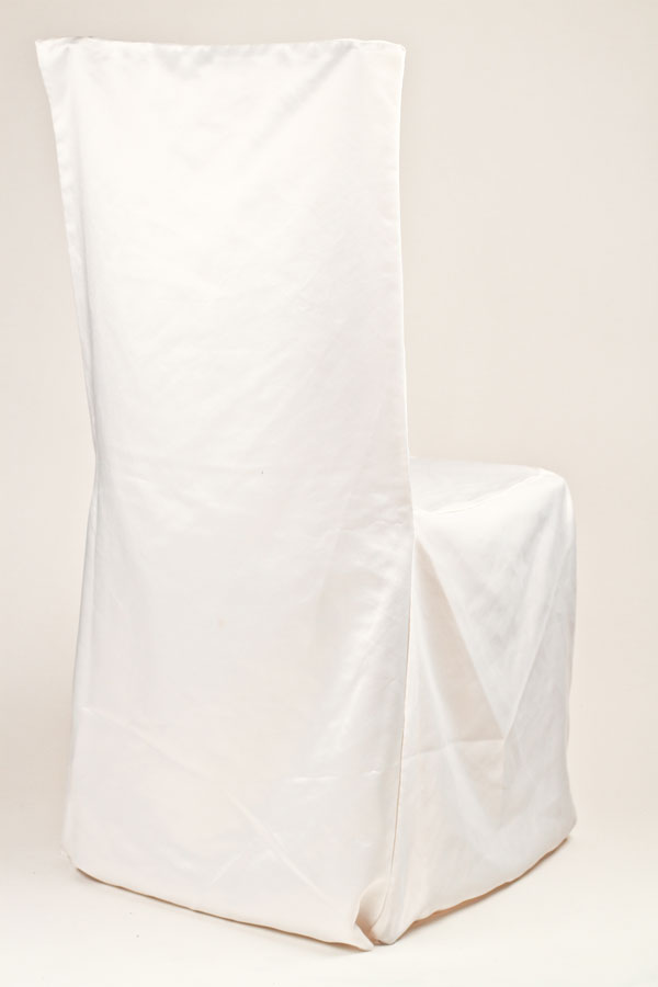 White Square Chair Cover