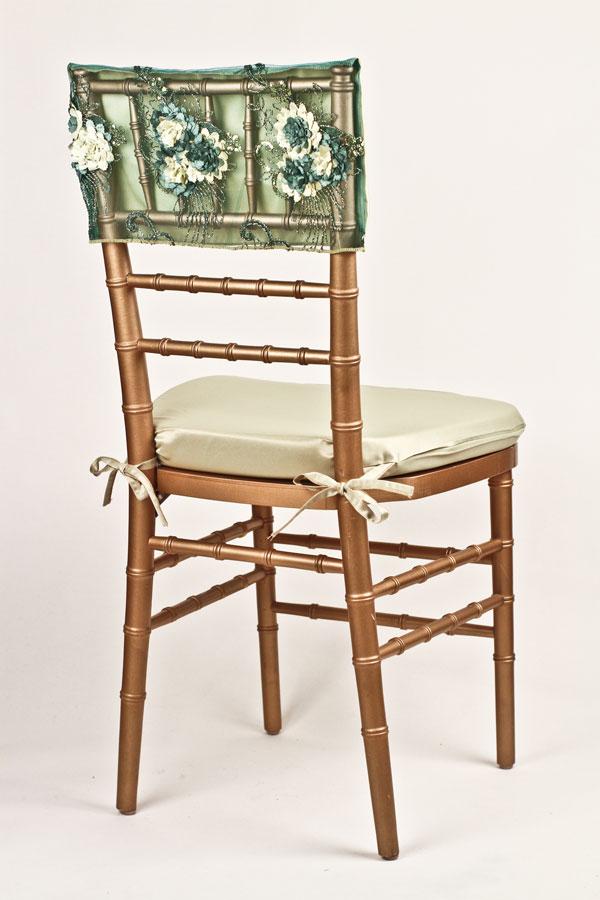 Citron Emerald Floral Bouquet Chair Cap