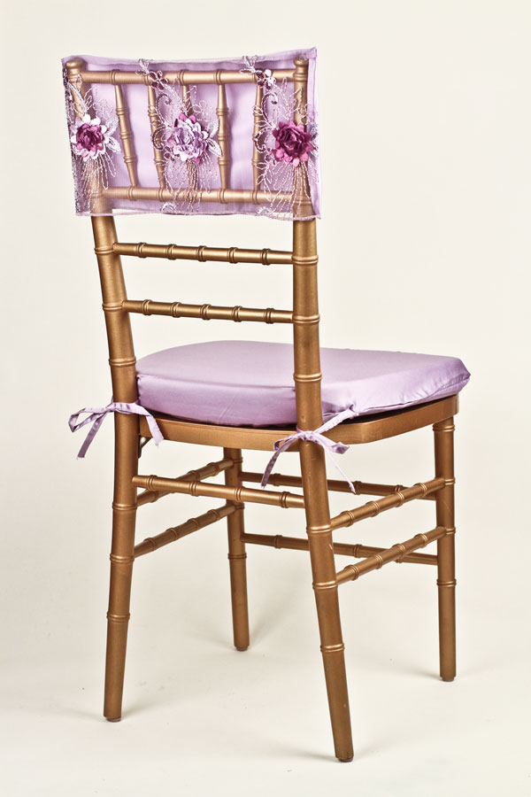 Lavender Plum Floral Bouquet Chair Cap