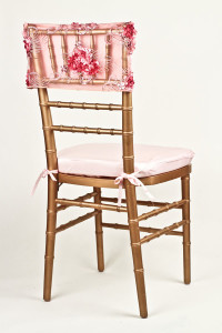 Pink Rose Floral Bouquet Chair Cap