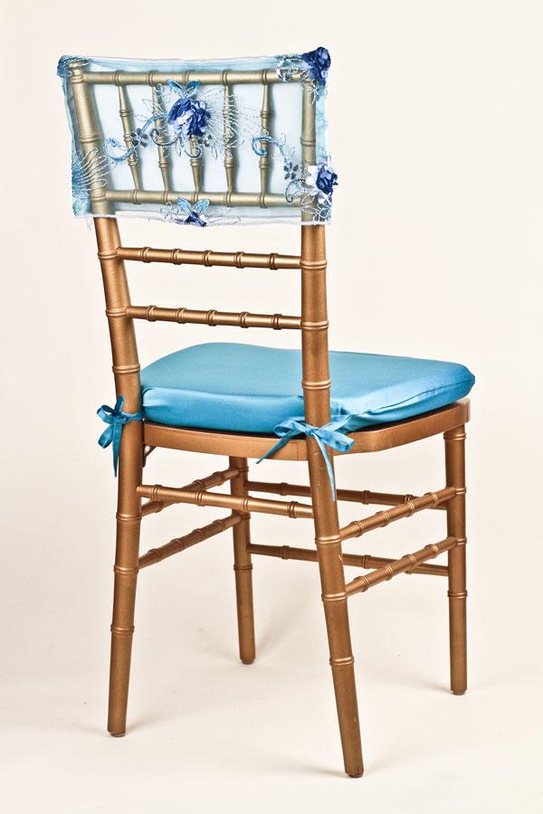 Tourquoise / Light Blue Floral Bouquet Chair Cap