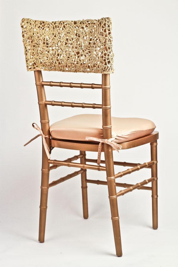 Gold Artistic Braided Chair Cap