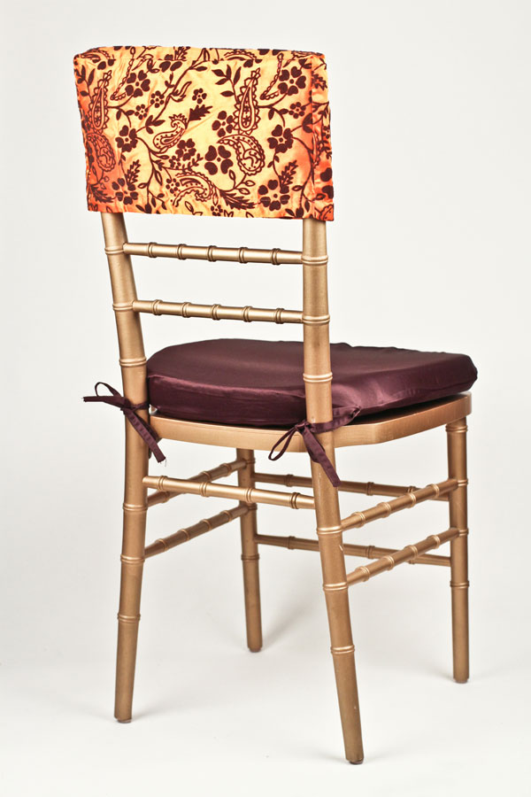 Orange & Brown Flock Chair Cap