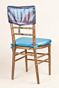 Peacock Iridescent Chair Cap