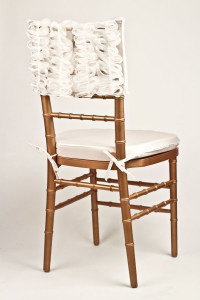 White Ribbon Lace Chair Cap