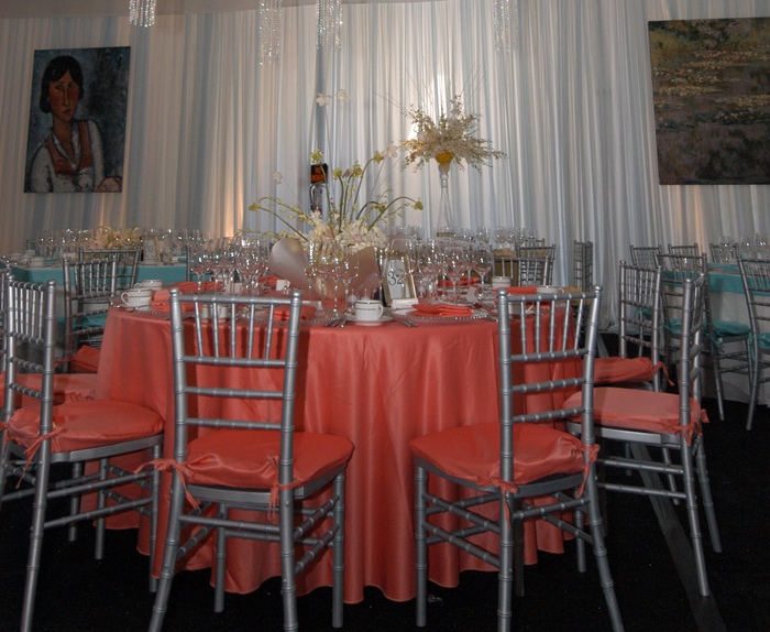 Coral lamour napkin for Table coral sample
