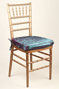 Amethyst Emerald Crushed Shimmer Chair Pad Cover