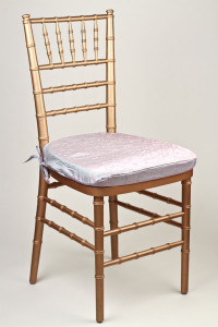 Aqua Pink Crushed Shimmer Chair Pad Cover
