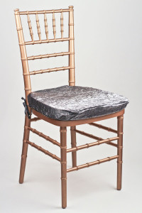Charcoal Crushed Shimmer Chair Pad Cover