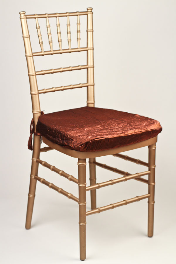 Copper Crushed Shimmer Chair Pad Cover
