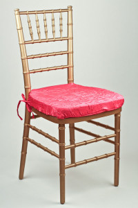 Fuchsia Crushed Shimmer Chair Pad Cover