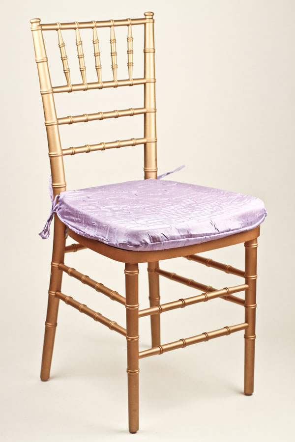 Lavender Crushed Shimmer Chair Pad Cover