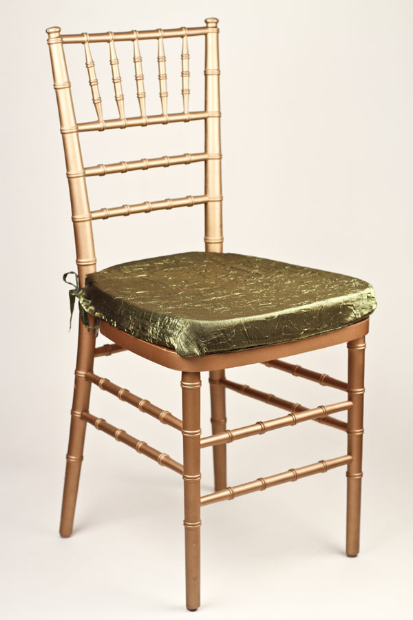 Moss Crossed Crushed Shimmer Chair Pad Cover