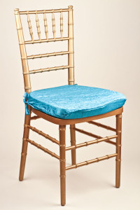 Ocean Crushed Shimmer Chair Pad Cover