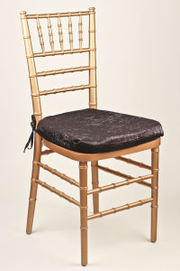 Onyx Crushed Shimmer Chair Pad Cover