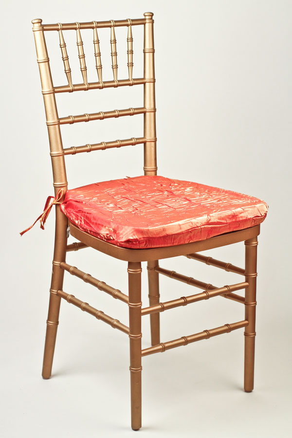 Orange Gold Crushed Shimmer Chair Pad Cover