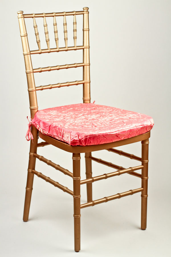 Pink Grapefruit Crushed Shimmer Chair Pad Cover
