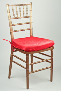 Red Crushed Shimmer Chair Pad Cover