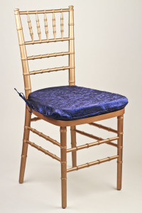 Royal Crushed Shimmer Chair Pad Cover