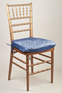 Slate Blue Crushed Shimmer Chair Pad Cover