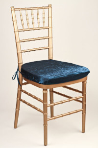 Teal Crushed Shimmer Chair Pad Cover