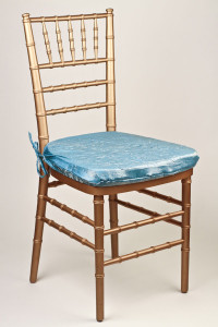 Turquoise Gold Crushed Shimmer Chair Pad Cover