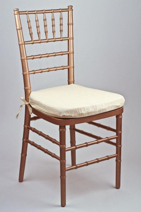 Buttercup Crinkle Taffeta Chair Pad Cover