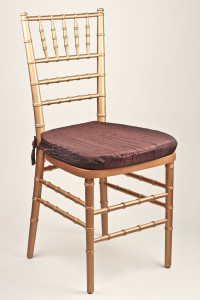 Chocolate Crinkle Taffeta Chair Pad Cover