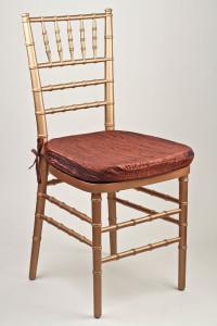 Cinnamon Crinkle Taffeta Chair Pad Cover