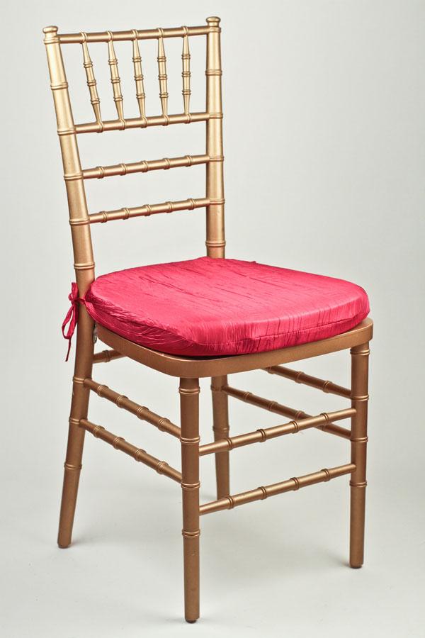 Fuchsia Crinkle Taffeta Chair Pad Cover